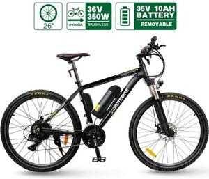 Electric-Bike-HOTEBIKE-26-Inch-350W-Brushless-Motor-36V-10AH-Lithium-Battery