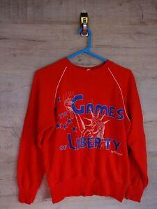 VTG-90s-80s-seltenes-Format-Grafik-Sweatshirt-Sweater-Pullover-REFA-8-Groesse-3