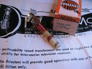 Miller-1482-IFT-Coil-Tunable-Core-Transformer-4-5MHz-Sound-IF-Trap-NOS-Qty-1
