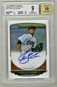CARLOS-CORREA-2013-Bowman-Chrome-Rookie-Card-RC-Auto-Autograph-BGS-9-Mint-Astros