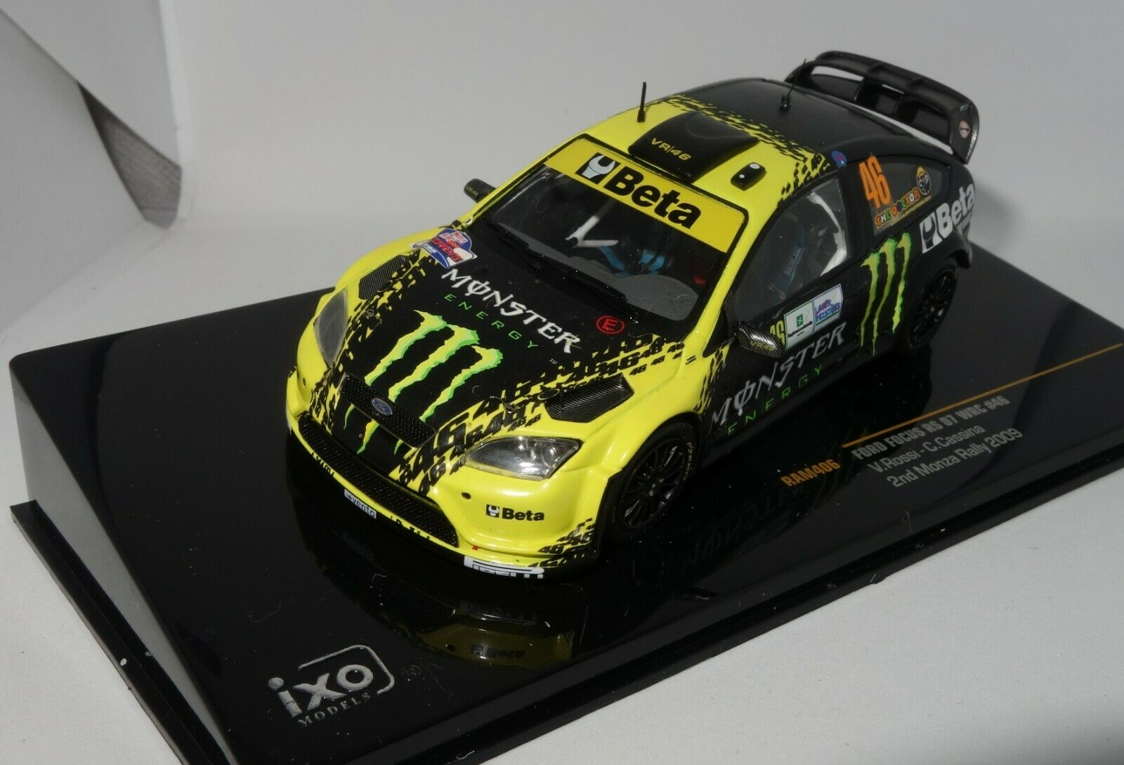 Ixo ram406 1 43 ford focus wrc monza rally 2009 rossi rare
