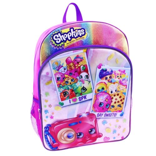 """SHOPKINS STRAWBERRY KISS 16/"""" Full-Size Backpack w//Optional Insulated Lunch Box"""