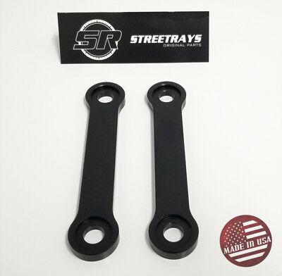"SR Links Kit 1.5/"" DOG BONES Pair Drop BLACK 08-18 KLR 650 Billet Lowering"