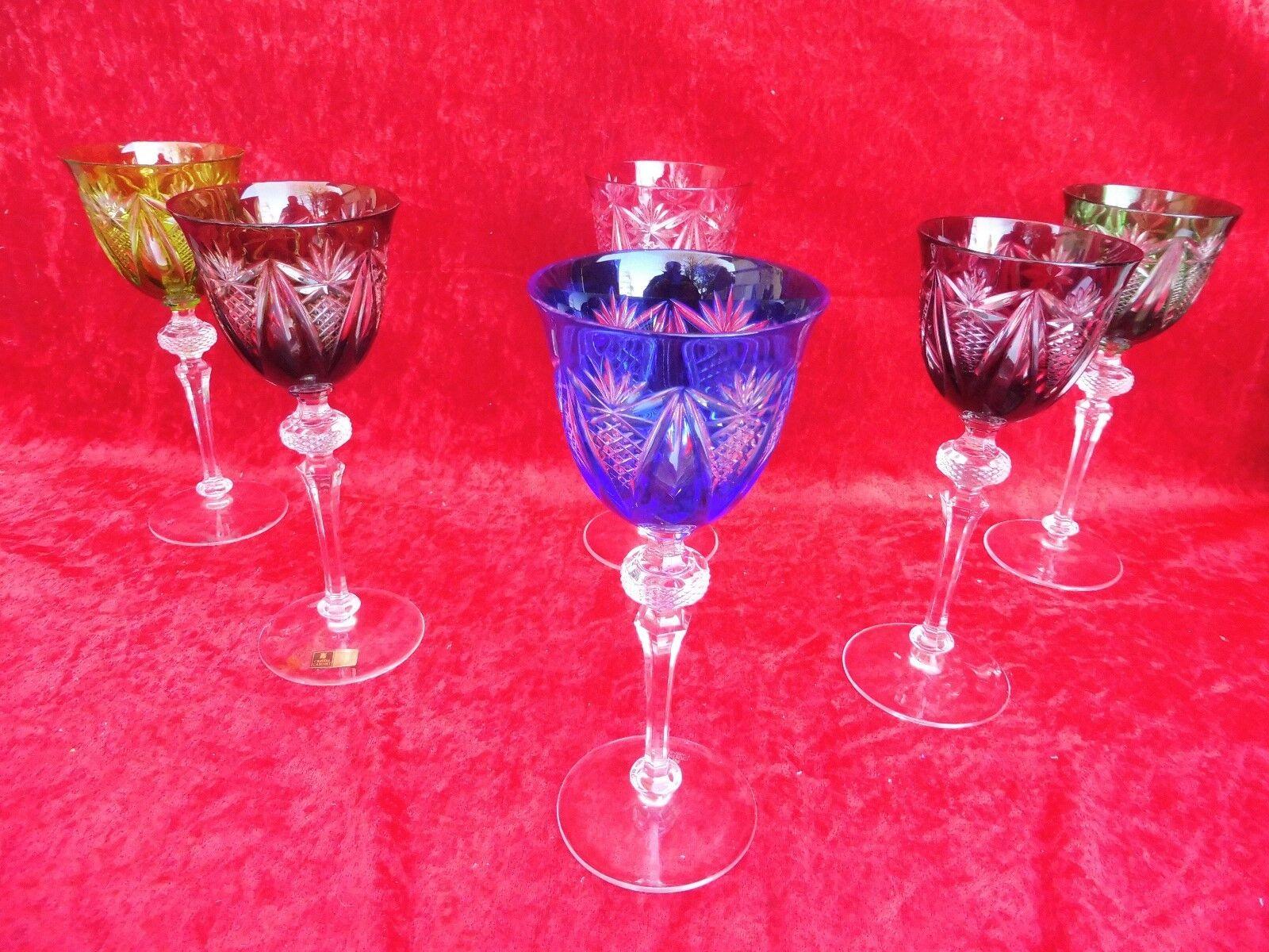 6 Noble, Grand Vin-Romains __ bleikristall poncé __ WMF Cabinet ___ 22,5cm_ _
