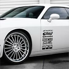 Racing Sponsor Car Sport Stickers Graphics Decals Audi BMW VW MB JDM Set of 12