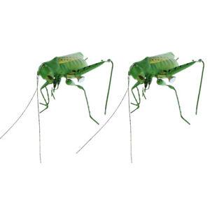 0b67bd74 2x Realistic Insect Ornament Figure Home Garden Tree Grassland Decor ...