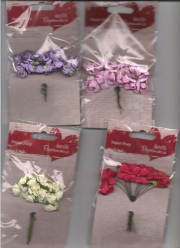Papermania Paper Posy Flowers,4 Colours to choose From BNIP