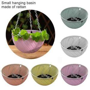 Hanging Basket Plastic Succulent Holder Plant Hanging Pot Planting Container FOR