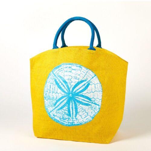 Tote Two/'s Company Reef Jute Sand Dollar  Bag Beach Bag