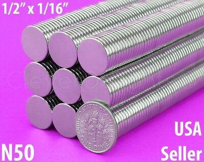 "100PCS Strong 3//8/"" x 1//16/"" Craft Magnets Round Disc Magnet Fridge N50"