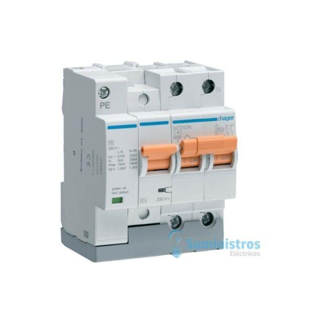 Interruptor automatico +Limitador sobretensiones permanentes y transitorias Hage