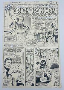 Iron Man #1 Original Comic Art 2nd Story ORIGIN SPLASH 1968 12c Silver Age