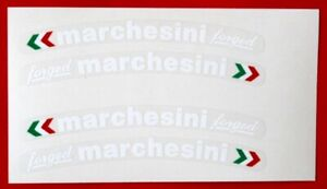 DUCATI -MV - MARCHESINI  FORGED WHEEL DECALS WHITE /CLEAR TRICOLOUR DIRECTION