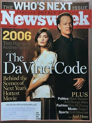 Tom Hanks Audrey Tautou The Da Vinci Code 2006 Newsweek Magazine Ebay