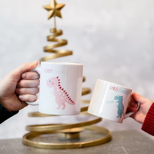 Personalised Dinosaur Family Theme Birthday Mugs Present Gift Idea6oz 10oz