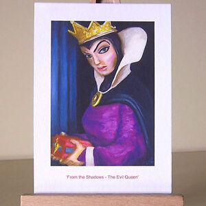 Oil-painting-style-drawing-of-WDCC-Snow-White-jealous-Evil-Queen-villain