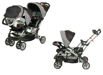 BUY NOW Double Travel System Stroller Baby Infant Twin Car ...