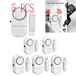 5X-WIRELESS-Home-Window-Door-Burglar-Security-ALARM-System-Magnetic-Sensor-Alert