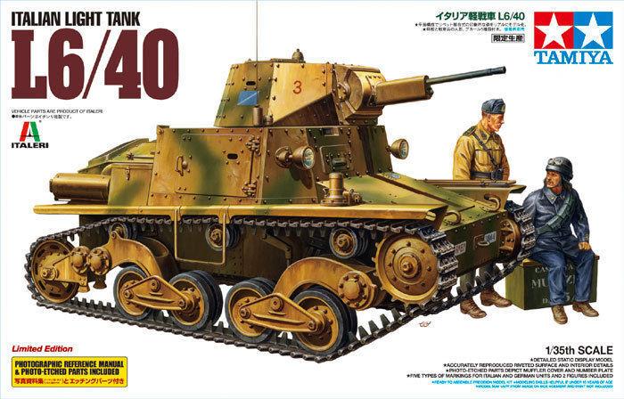 1 35 Tamiya Italian Light Tank L6 40