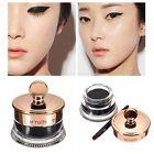 32g Waterproof Long Lasting Black Eye Liner Eyeliner Shadow Gel Makeup + Brush
