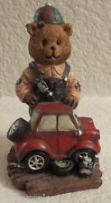 Mechanic Bear Fixing Car Figurine