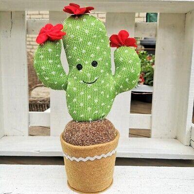 Gran Cactus Arte Flor Arte Planta Rojo Verde De Tela De Olla Tilda Higge Cuerda Una Gran Variedad De Modelos
