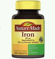 Nature Made Iron Dietary Supplement Tablets, 65mg, 260 Count