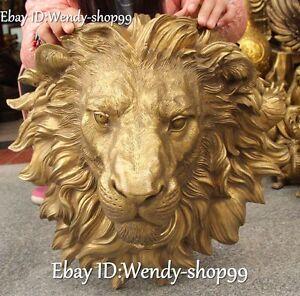 16-034-Pure-Bronze-Feng-Shui-Guardian-Avoid-Evil-Lion-Leo-Head-Bust-Animal-Statue