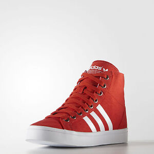low priced e9a3b 0c5dd Image is loading New-Adidas-COURTVANTAGE-MID-Canvas-Court-pro-Vantage-