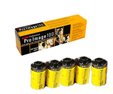 5 Rolls  KODAK Pro Image 100 35mm 135-36 profession Color Negative Film 08/2018