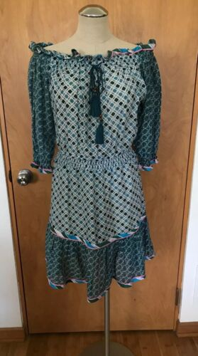 TABITHA Off The Shoulder Peasant Dress, Sz M, $449