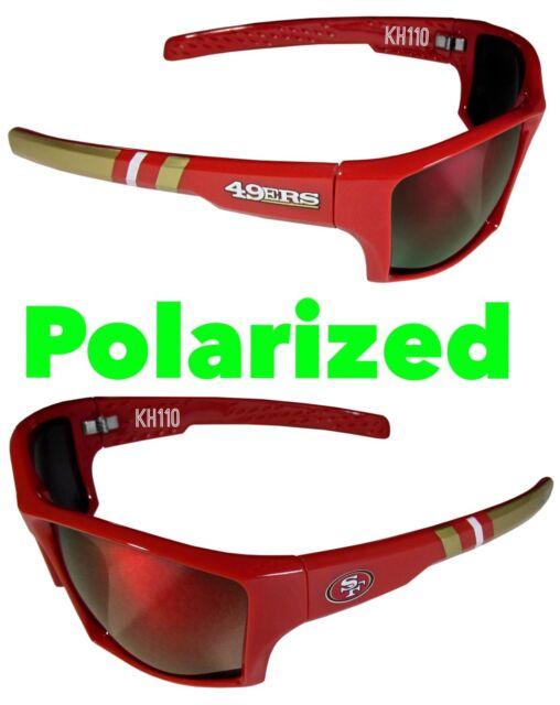 0f7b54ac0590 San Francisco 49ers Polarized Wrap Sunglasses W microfiber Bag for ...