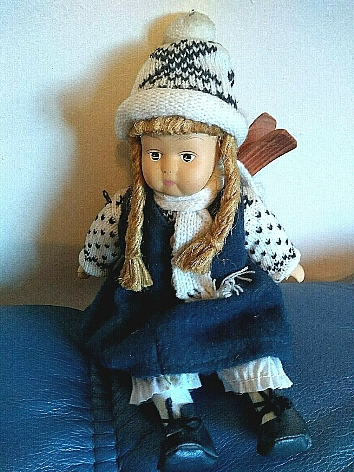 Doll, Norwegian, removable scarf, trousers' and dress, Good condition