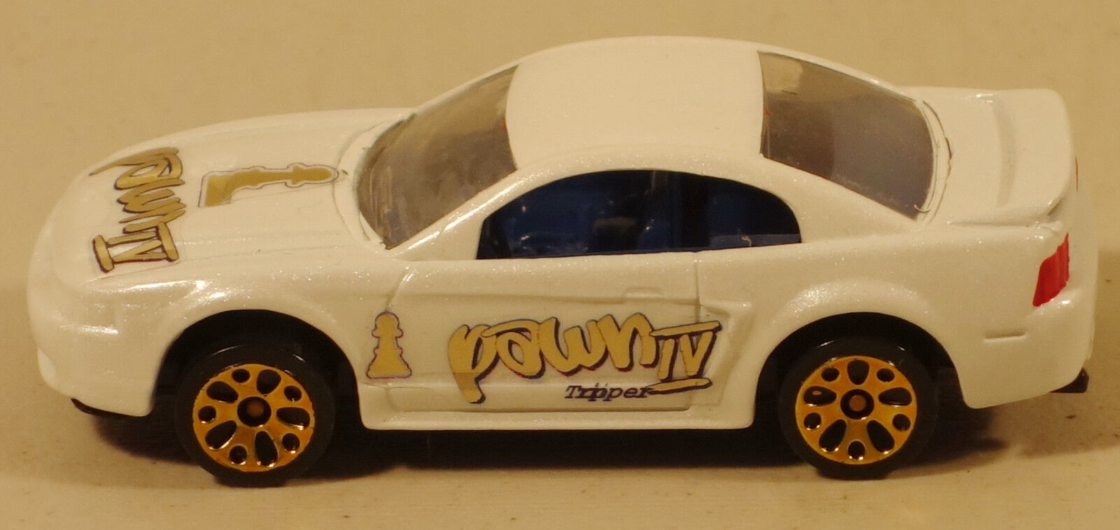Dte selten matchbox superfast schach pearl Weiß edition 99 ford mustang prepro