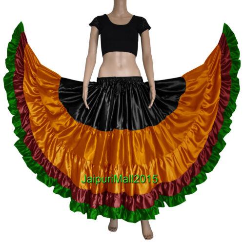 Jaipurimall ATS Satin Gypsy 25 Yard Skirt Tribal Fusion Belly Dance Flamenco