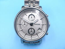 New Old Stock FOSSIL Boyfriend 38mm Chronograph Date SS Quartz Men Watch