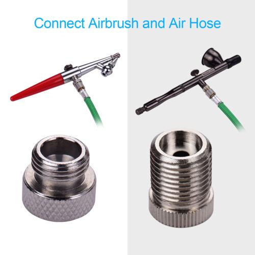 Professional 9 Pcs Airbrush Adaptor Kit Air Hose Fitting Connector Set I0F8