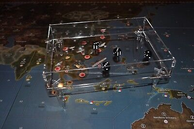 Clear Miniatures, War Games Flames Of War Able Axis & Allies Parts/pieces Elevated Dice Tray