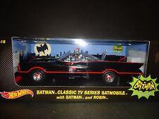 Hot Wheels Batmobile 1966 with Batman and Robin figures 1/18 DJJ39