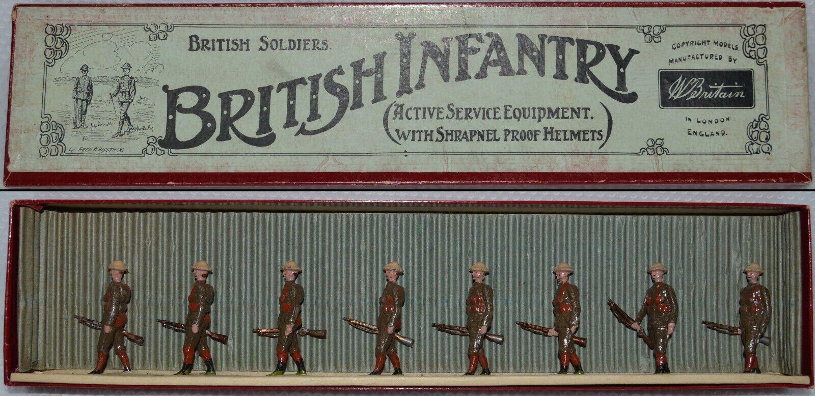 Britter Pre-War Set Brittiska infanteri, Aktiv tjänst AA-10829