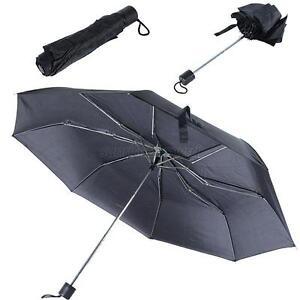 black windproof anti uv sun rain compact folding umbrella parasol wholesale u92 ebay. Black Bedroom Furniture Sets. Home Design Ideas