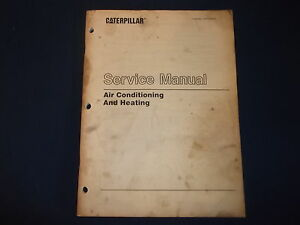 cat caterpillar air conditioning and heating service book manual rh ebay com cat service manual sent 5664