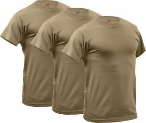 Details about 3 Pack - Coyote Brown AR 670-1 Compliant Quick Dry Moisture  Wicking Army T-Shirt ce0d94fc8ce