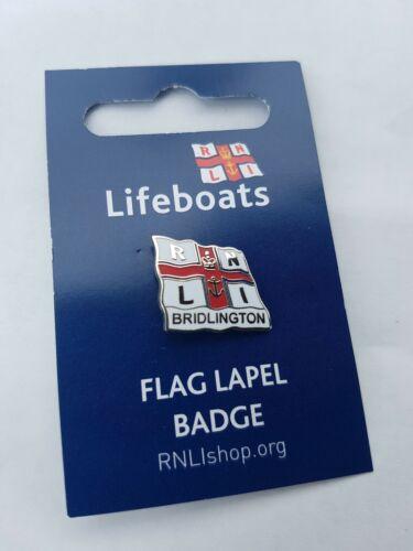 RNLI Flag Pin Badge Bridlington Lifeboats Yorkshire Coast