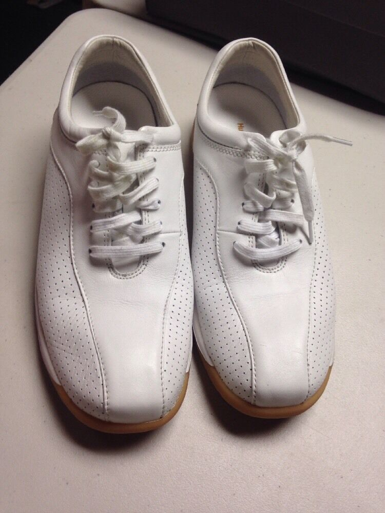 Hush Puppies Converge II WHITE LEATHER Mens Sz 13 Sneakers