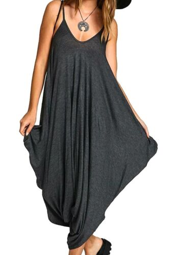 Strappy Hareem Jumpsuit in Charcoal grey RRP £21.99