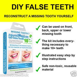 how to get stains off false teeth