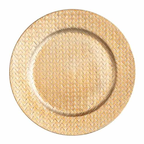"""Home Event /& Wedding Decor Richland Charger Plates 13/"""" Woven Set of 12"""