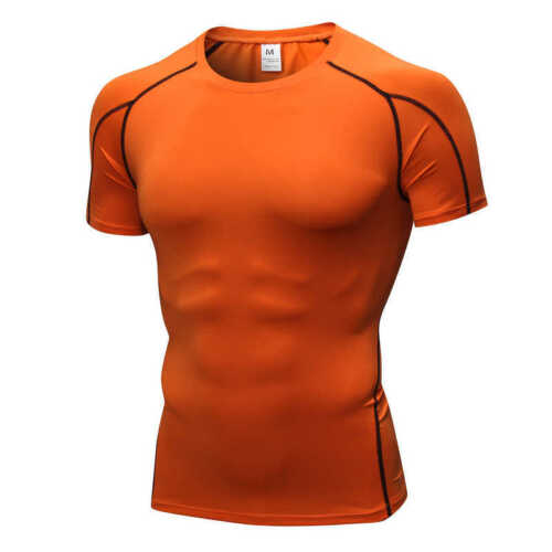 Mens Gym Workout Clothes Compression Shorts Tops Training Fitness Dri-fit Tights