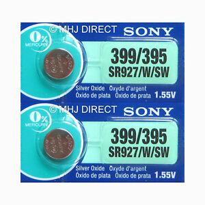 2-x-Genuine-SONY-399-SR927W-SR57-Watch-Batteries-Silver-Oxide-0-Mercury